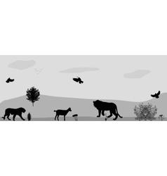 Wild animals on the prowl vector