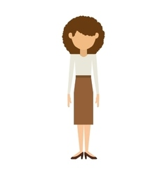 Woman with skirt and curly hair vector