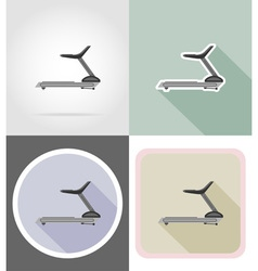 Fitness flat icons 12 vector