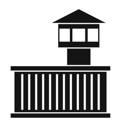 Prison tower icon simple style vector