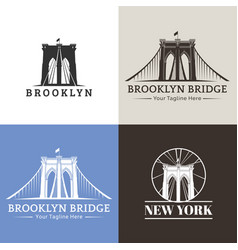 New york brooklyn bridge vector