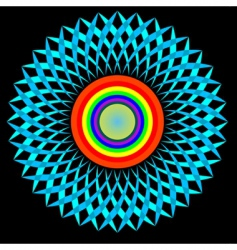 stylized sun vector image