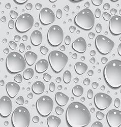 Seamless background drops of water vector