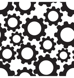 Seamless pattern background with cogwheels vector