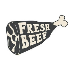 Fresh beef vector