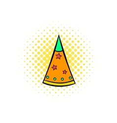 Party hat comics icon vector