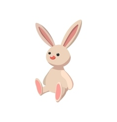 Rabbit toy cartoon icon vector