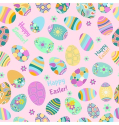 Seamless multicolored pattern of easter eggs vector
