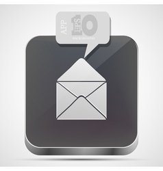 Mail app icon vector