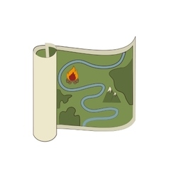 Map orienteering draw icon vector