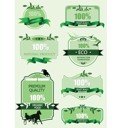 Eco labels and stickers vector