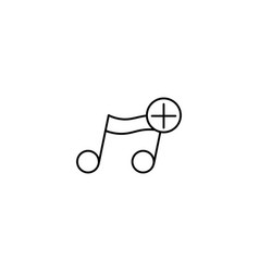 Add music note icon vector