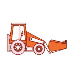 Backhoe icon image vector