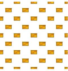Bee honeycombs pattern vector