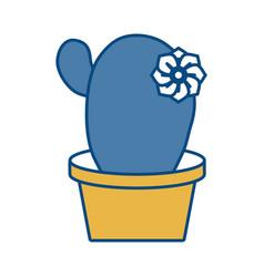 Cactus in a pot icon vector