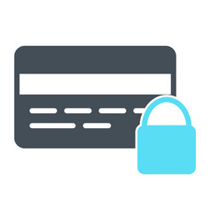 credit card security with lock icon pictogram vector image vector image