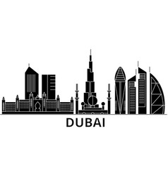 dubai architecture city skyline travel vector image vector image