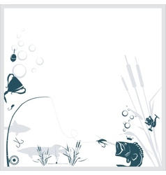 Fishing background vector image vector image