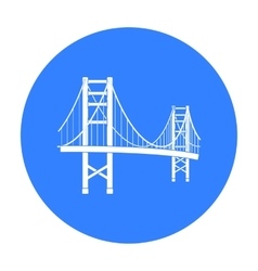 Golden gate bridge icon in black style isolated on vector