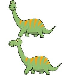 green dinosaur cartoon vector image