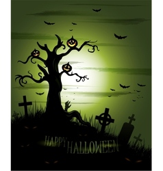 Greeny halloween background vector