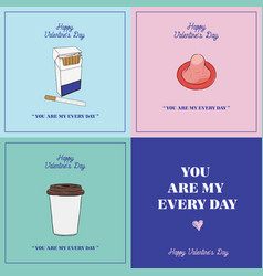 Happy valentines day gift card you are my every vector