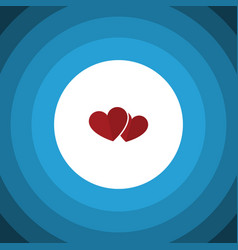 Isolated love flat icon soul element can vector