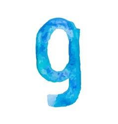 Letter g colorful watercolor aquarelle font type vector