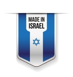 Made in Israel flag ribbon vector image vector image