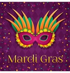 mardi gras mask vector image