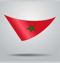 moroccan flag background vector image