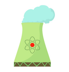 nuclear power plant icon cartoon style vector image