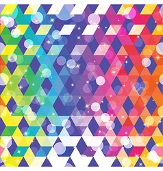 Pattern of geometric shapes colorful mosaic vector