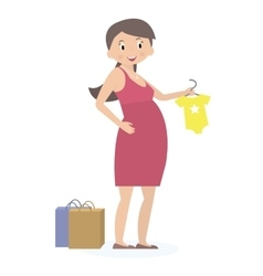 Pregnant woman on shopping Expectation concept vector image vector image