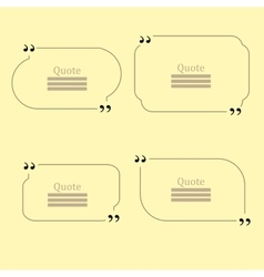 Quote bubble set of speech bubbles vector