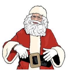 Santa claus standing vector