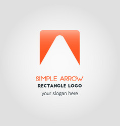 simple business logo template in orange gradient vector image vector image