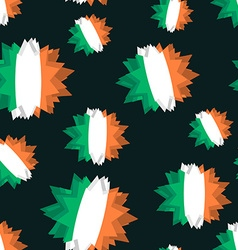 Star flag of ireland seamless pattern background vector