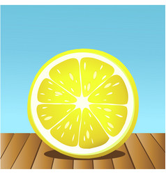 Summer lemon fruit vector