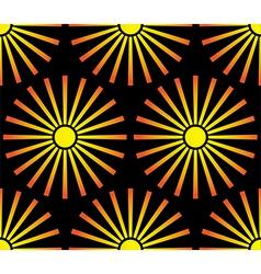 Sun seamless pattern vector image vector image