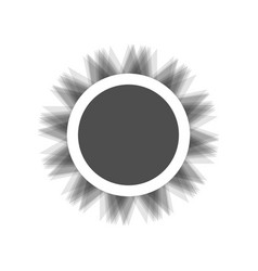 Sun sign gray icon shaked at vector