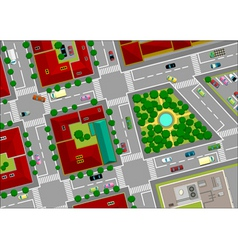 urban landscape street vector image