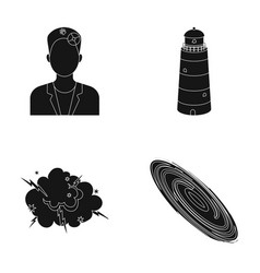 War wear and or web icon in black style lighting vector