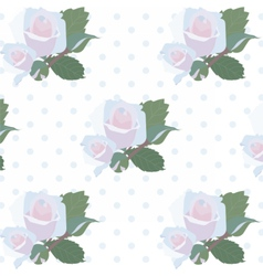 Watercolor delicate roses pattern vector