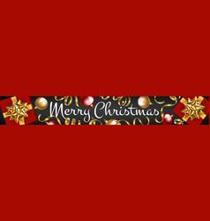 web banner merry christmas vector image
