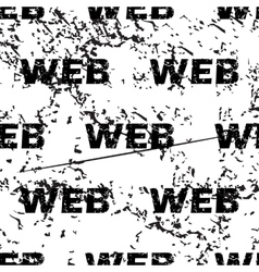 Web pattern grunge monochrome vector