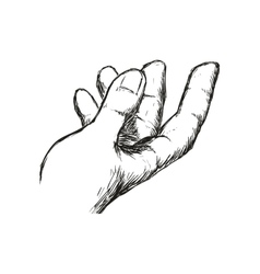 Gesture with fingers icon sketch hand design vector