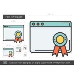 Page ranking line icon vector