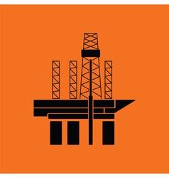 Oil sea platform icon vector