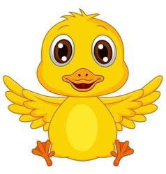 Cute baby duck cartoon vector